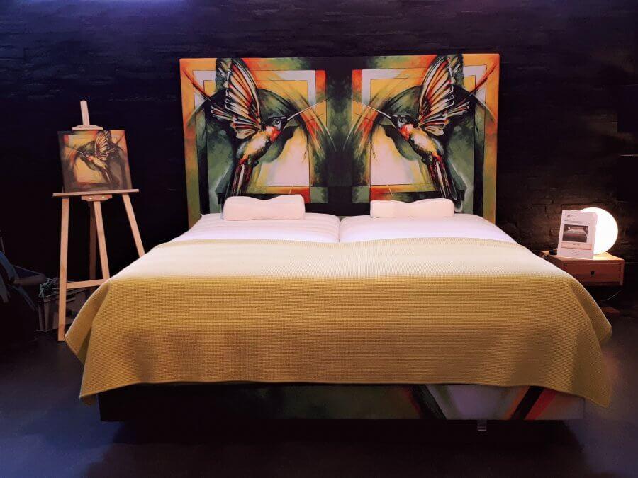 Designer Unikat Polsterbett Kolibri Sonderanfertigung 6.000€