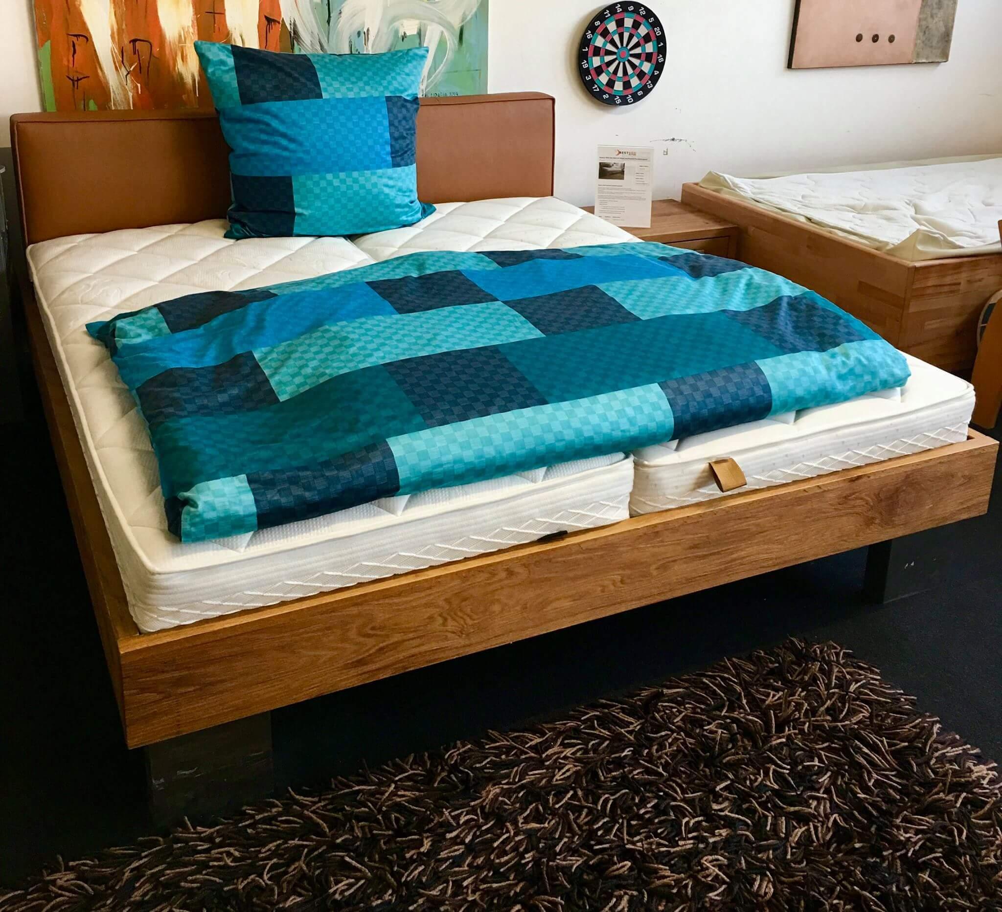 hasena wild oak bett mit rummel matratze und motorlattenrost sonderangebot. Black Bedroom Furniture Sets. Home Design Ideas