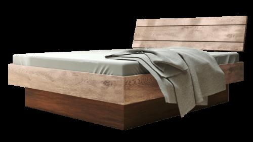 Gelbett oder Wasserbett im Massivholzrahmen500rechts