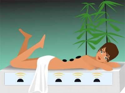 Wasserbett Massage Oase